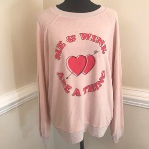 NWOT Wildfox Me & Wine Are A Thing Top Size Medium
